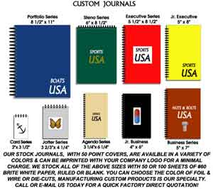 custom journals, journal customizing